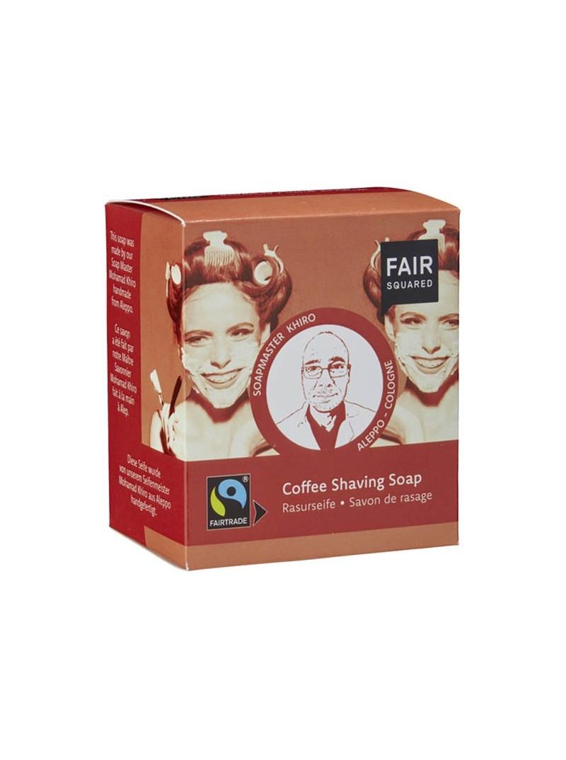 Jabón para afeitado con café