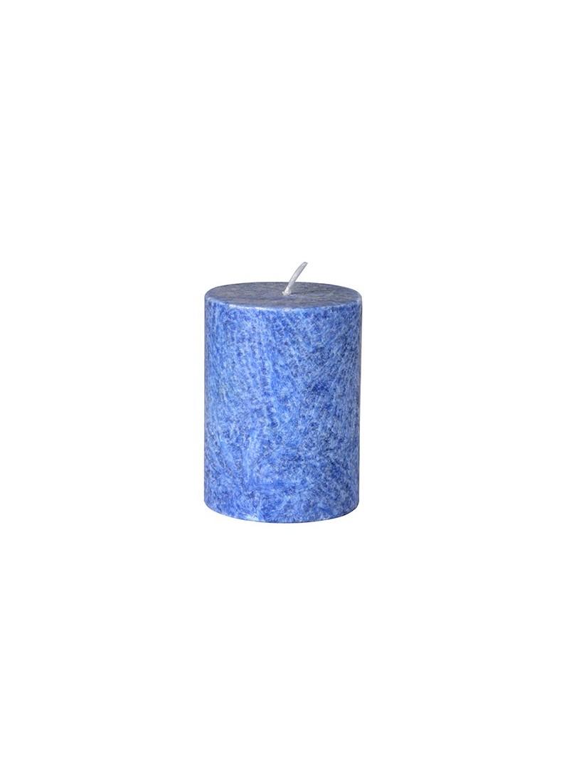 Vela pilar pequeña azul