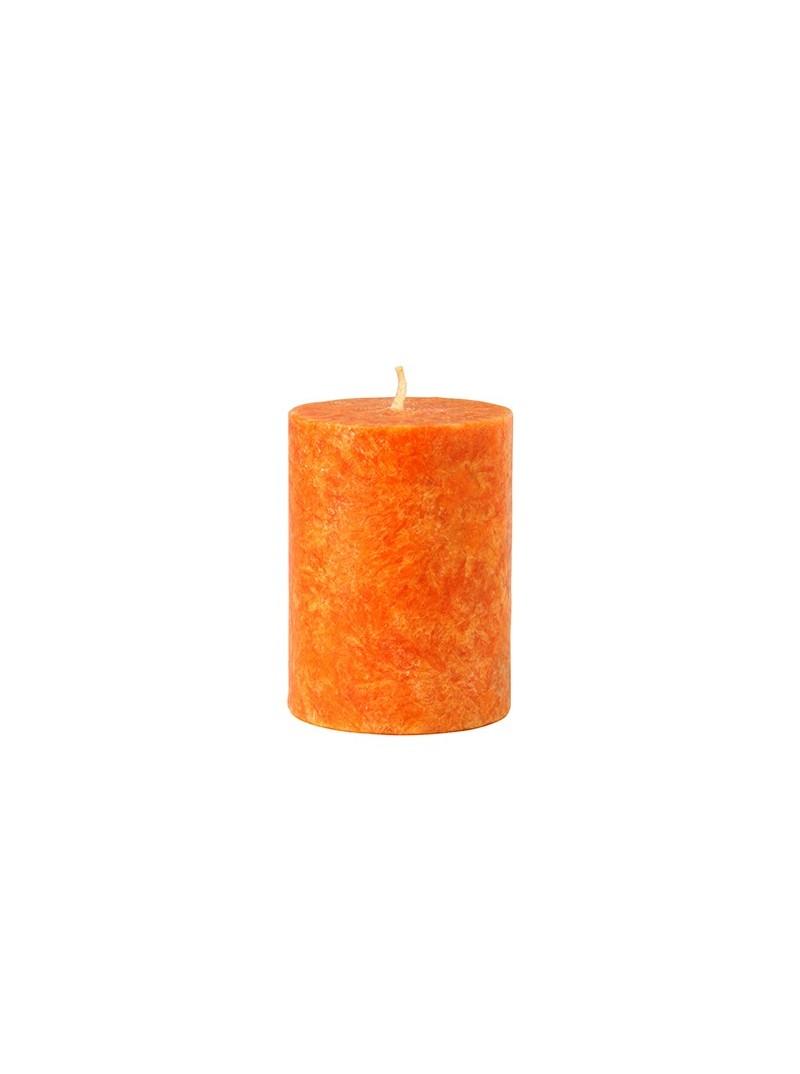 Vela pilar pequeña naranja