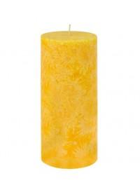 Vela pilar grande Amarillo