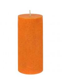 Vela pilar grande Naranja