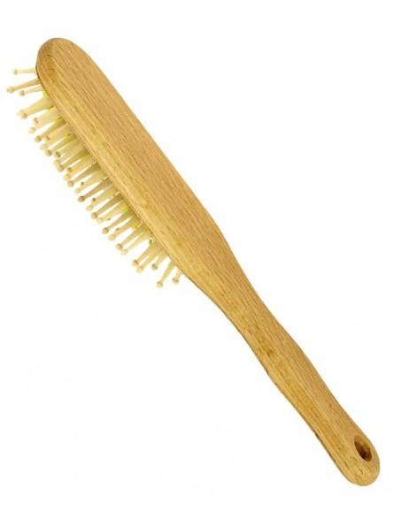 Cepillo pelo púas madera redondeadas haya mediano