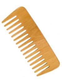 Peine de madera de haya pelo rizado