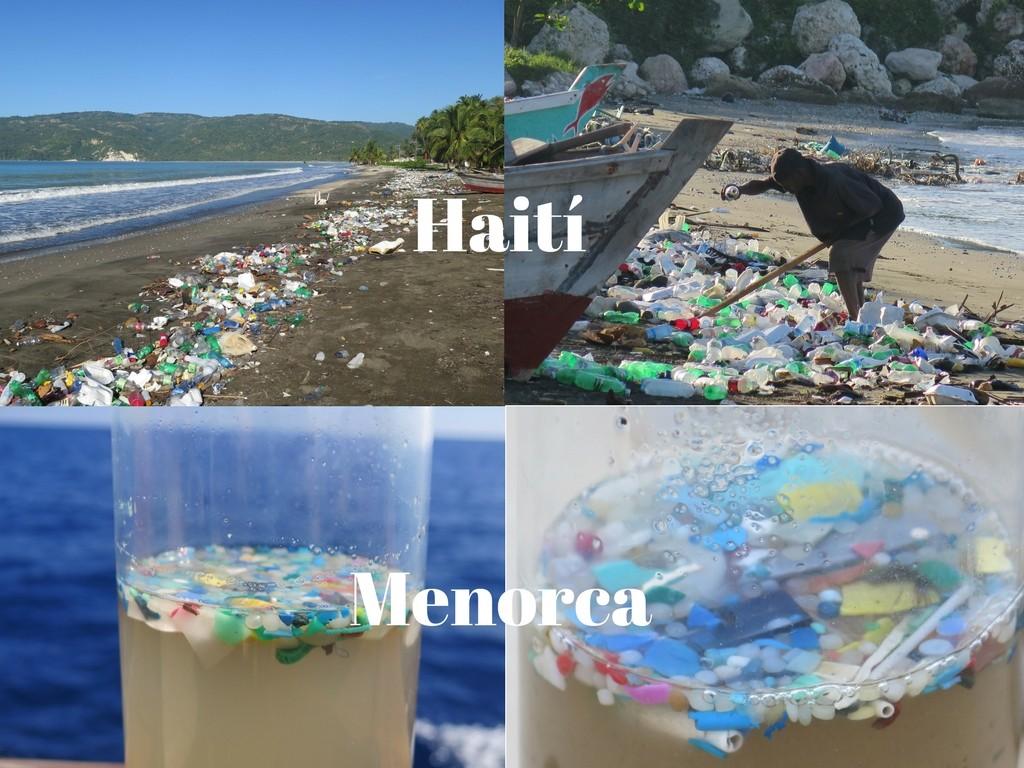 plasticos en haiti y menorca