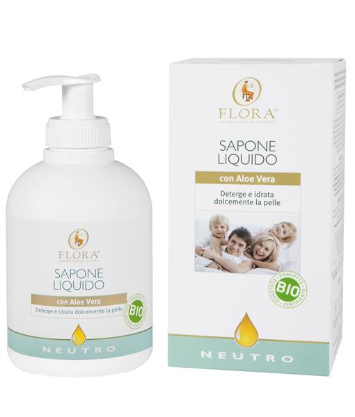 Jabón líquido Neutro Flora 250 ml